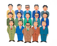 スーツの男性の集合