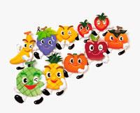 果物のキャラクターの集合