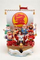 鼠と七福神の宝船 クラフト