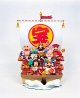 七福神と宝船 22497000263| 写真素材・ストックフォト・画像・イラスト素材|アマナイメージズ