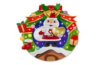 ハートを持つサンタのクリスマスリース