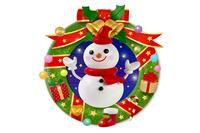 雪だるまのクリスマスリース