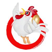 金の卵を持ってジャンプするニワトリ 22497000740| 写真素材・ストックフォト・画像・イラスト素材|アマナイメージズ