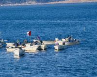 あさりはさみ漁の舟