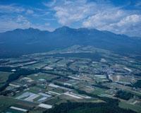 高原野菜畑と八ヶ岳