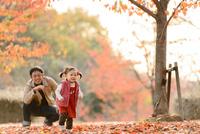 公園で遊ぶ子どもと父親