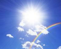 空と太陽と虹