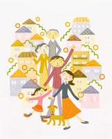 家族イメージ イラスト 22571000043| 写真素材・ストックフォト・画像・イラスト素材|アマナイメージズ