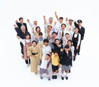 握りこぶしの俯瞰の日本の人々 22600000928| 写真素材・ストックフォト・画像・イラスト素材|アマナイメージズ