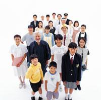 俯瞰の日本の人々 22600000933| 写真素材・ストックフォト・画像・イラスト素材|アマナイメージズ