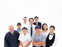 笑う日本人の人々