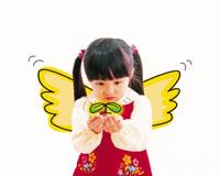 羽のある女の子