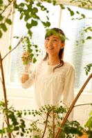 観葉植物に霧吹きかける20代女性 22600005283| 写真素材・ストックフォト・画像・イラスト素材|アマナイメージズ