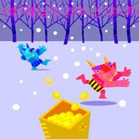 お正月イメージ イラスト 22645000055| 写真素材・ストックフォト・画像・イラスト素材|アマナイメージズ