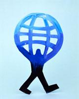 地球を抱える人のクラフト