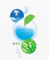 CG 空と水滴 22707001515| 写真素材・ストックフォト・画像・イラスト素材|アマナイメージズ