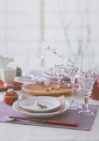和食卓のなかの彼岸桜