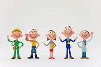 様々な職業の人たち 22748000419| 写真素材・ストックフォト・画像・イラスト素材|アマナイメージズ