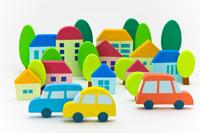 住宅地と車