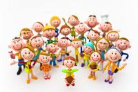 新芽を持つ女の子と人々 22748000444| 写真素材・ストックフォト・画像・イラスト素材|アマナイメージズ