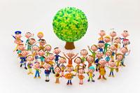 樹木と人々