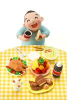 大食いのメタボな男性 22748000852| 写真素材・ストックフォト・画像・イラスト素材|アマナイメージズ