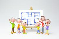 家族と間取り図