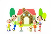 家族と家と犬