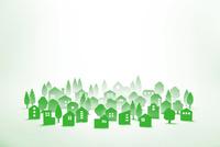 紙の街並(グリーン) 22748001088| 写真素材・ストックフォト・画像・イラスト素材|アマナイメージズ