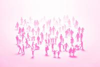紙の人々(ピンク) 22748001094| 写真素材・ストックフォト・画像・イラスト素材|アマナイメージズ