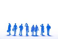 紙のビジネスマン(ブルー) 22748001105| 写真素材・ストックフォト・画像・イラスト素材|アマナイメージズ
