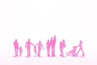 紙の家族たち(ピンク)