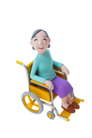 車椅子の女性 22748001131| 写真素材・ストックフォト・画像・イラスト素材|アマナイメージズ