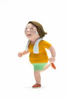 ランニング,肥満,女性 22748001136| 写真素材・ストックフォト・画像・イラスト素材|アマナイメージズ