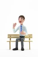 快活,話す,男性,ベンチ 22748001141| 写真素材・ストックフォト・画像・イラスト素材|アマナイメージズ