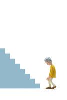 階段,膝痛,初老女性
