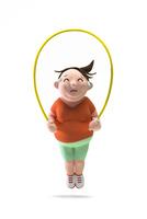 縄跳び,肥満,女性 22748001153| 写真素材・ストックフォト・画像・イラスト素材|アマナイメージズ