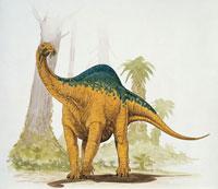 Melanosaurus eating leaves