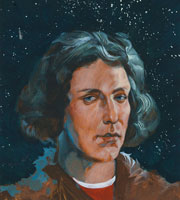 a painting of Nicolaus Copernicus