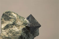 Close up of a Magnetite rock