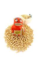 節分 赤鬼の面と升と豆 22910000006| 写真素材・ストックフォト・画像・イラスト素材|アマナイメージズ