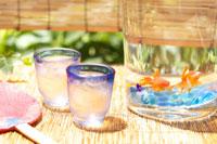 水鉢と金魚