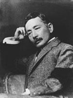 夏目漱石の肖像写真(1912年9月頃撮影)
