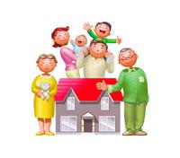 家族イメージ イラスト 22927000116| 写真素材・ストックフォト・画像・イラスト素材|アマナイメージズ