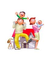 家族イメージ イラスト 22927000118| 写真素材・ストックフォト・画像・イラスト素材|アマナイメージズ