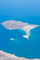 Aerial view of Isla Coronado in the Gulf of California (Sea