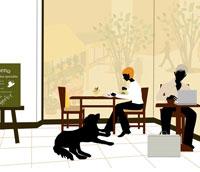 カフェの風景 イラスト 22987000032| 写真素材・ストックフォト・画像・イラスト素材|アマナイメージズ