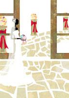 ウェディングドレスを着た花嫁 22987000106| 写真素材・ストックフォト・画像・イラスト素材|アマナイメージズ
