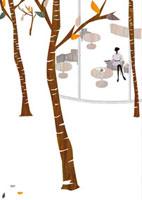 カフェにいる女性 22987000147| 写真素材・ストックフォト・画像・イラスト素材|アマナイメージズ
