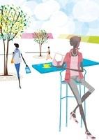 カフェやショッピングを楽しむ女性たち 22987000166| 写真素材・ストックフォト・画像・イラスト素材|アマナイメージズ